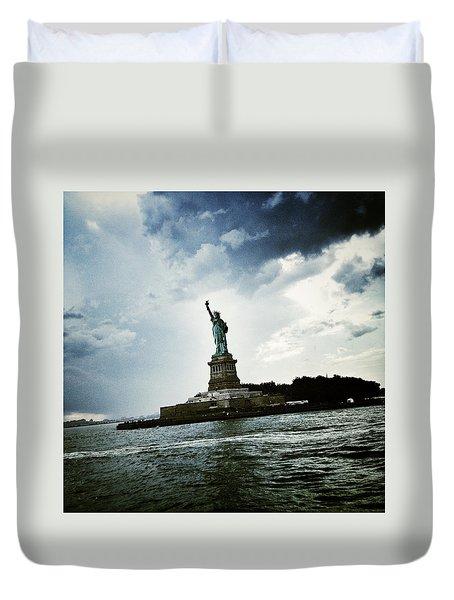 Lady Liberty Duvet Cover by Natasha Marco