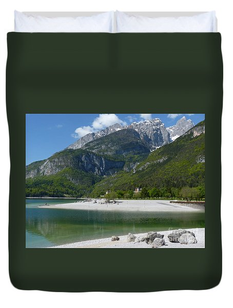 Duvet Cover featuring the photograph Lago Di Molveno - Italy by Phil Banks