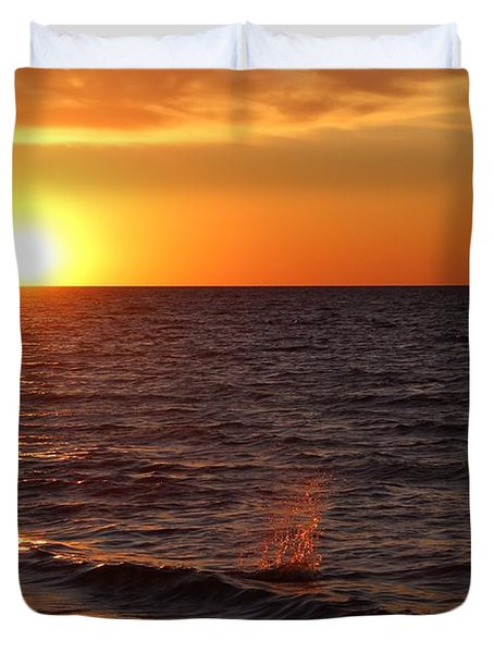 Lake Ontario Sunset Duvet Cover