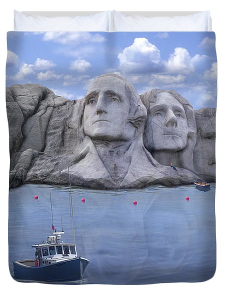 Lake Rushmore - Special Duvet Cover by Mike McGlothlen