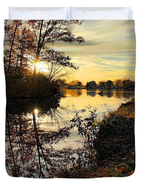 Lake Wausau Sunset Duvet Cover
