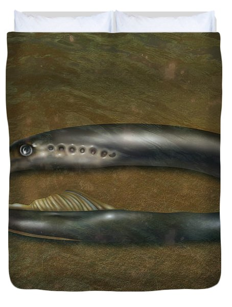 Lamprey Eel, Illustration Duvet Cover