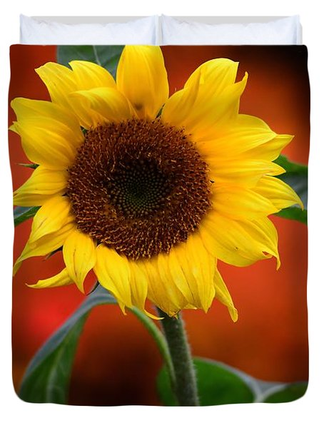 Last Sunflower Duvet Cover