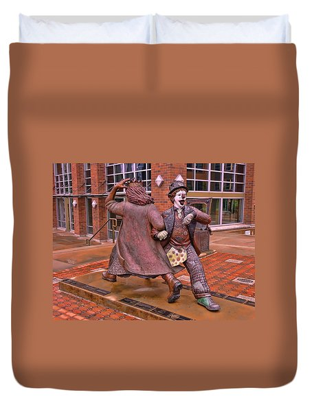 Late For The Interurban Duvet Cover by Allen Beatty