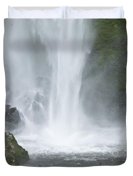 Latourelle Falls 9 Duvet Cover by Rich Collins