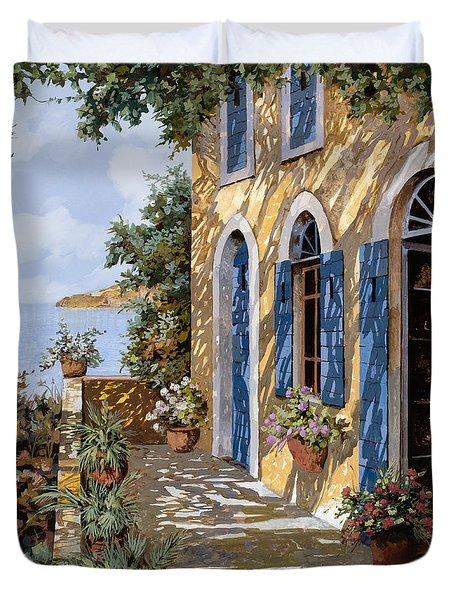 Le Porte Blu Duvet Cover