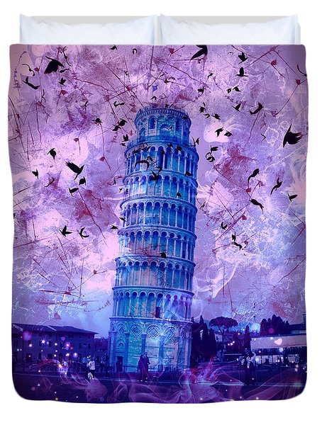 Leaning Tower Of Pisa 2 Duvet Cover
