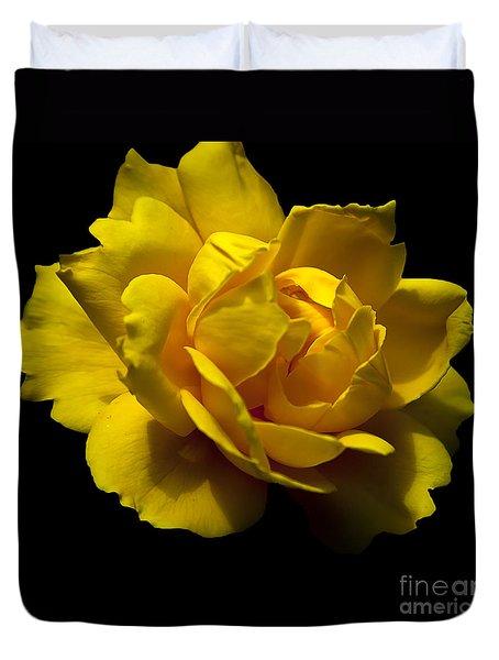 Lemon Rose Duvet Cover