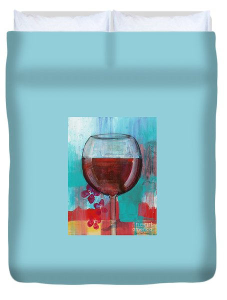 Duvet Cover featuring the painting Let It Breathe by Robin Maria Pedrero