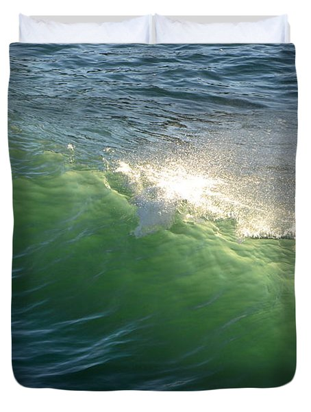 Linda Mar Beach - Northern California Duvet Cover by Dean Ferreira