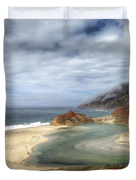 Little Sur River In Big Sur Duvet Cover