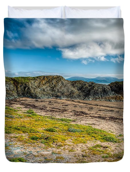 Llanddwyn Beacon Duvet Cover by Adrian Evans