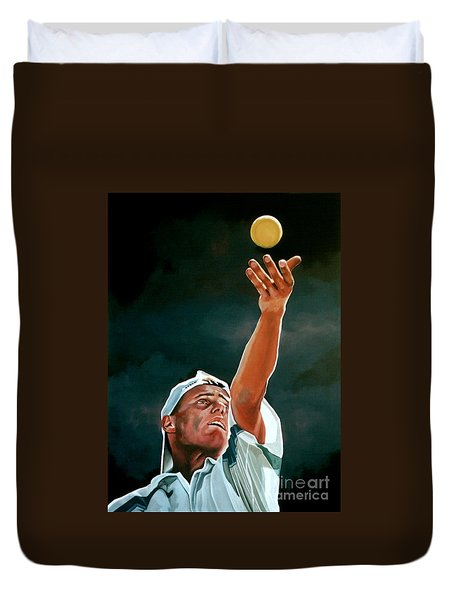 Lleyton Hewitt Duvet Cover by Paul Meijering