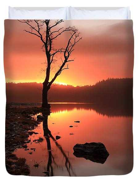 Duvet Cover featuring the photograph Loch Ard Sunrise by Grant Glendinning