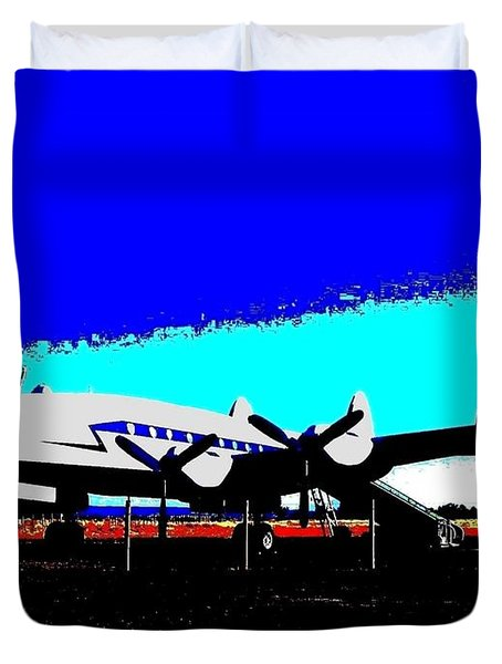 Lockheed Constellation Duvet Cover by Will Borden