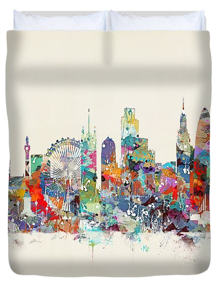 London City Skyline Duvet Cover