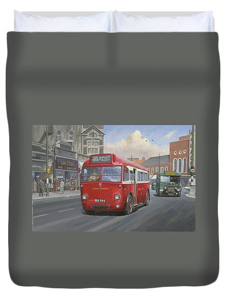 London Transport Q Type. Duvet Cover by Mike  Jeffries
