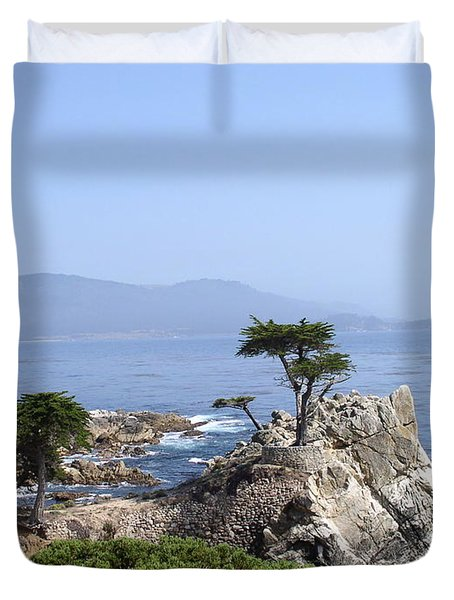 Lone Cypress Duvet Cover by Bev Conover