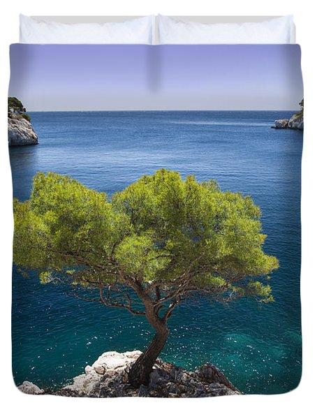 Lone Pine Tree Duvet Cover