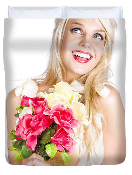 Love In Bloom Duvet Cover