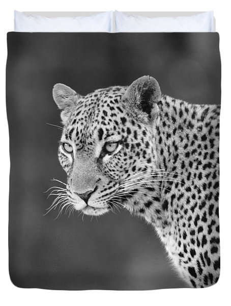 Lovely Leopard Duvet Cover by Michele Burgess