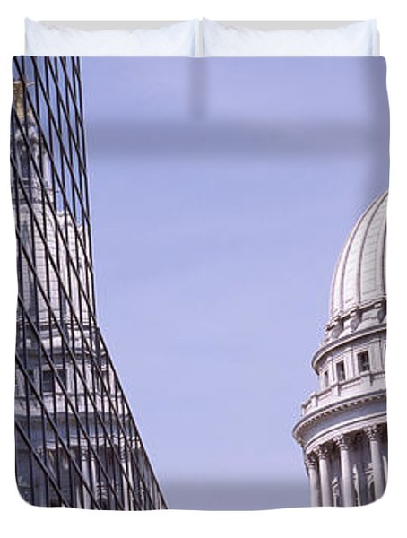 Low Angle View Of A Government Duvet Cover by Panoramic Images