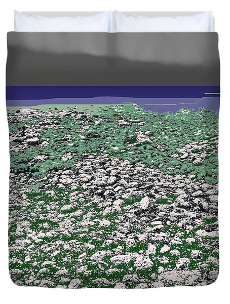 Duvet Cover featuring the digital art Low Tide Color 3  by Lyle Crump