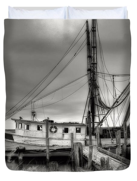 Lowcountry Shrimp Boat Duvet Cover
