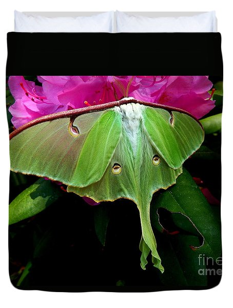 Lady Luna Moth Duvet Cover