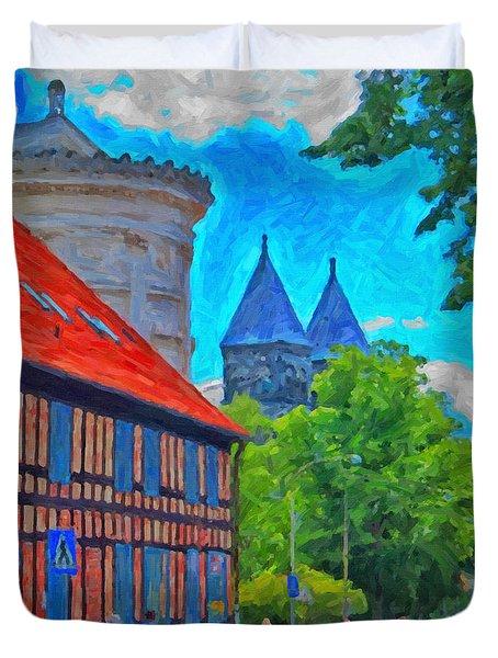 Lund Street Scene Duvet Cover