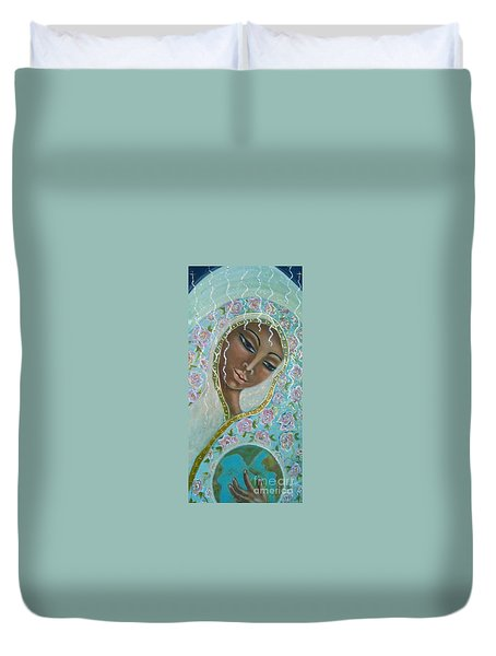 Ma -first Sound In The Universe Duvet Cover by Maya Telford