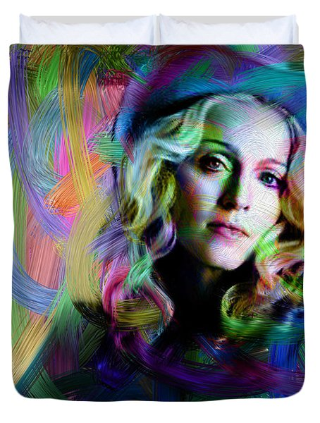 Madonna Duvet Cover by Unknown