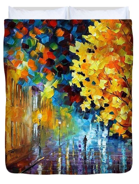 Magic Rain Duvet Cover by Leonid Afremov