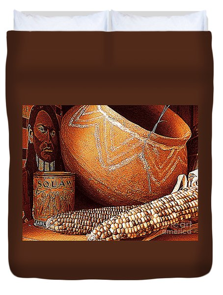 New Orleans Maize The Indian Corn Still Life In Louisiana  Duvet Cover by Michael Hoard