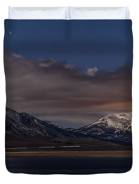 Mammoth At Night Duvet Cover