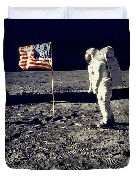 Man On The Moon Duvet Cover