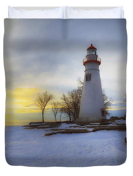 Marblehead Lighthouse Lake Erie Duvet Cover