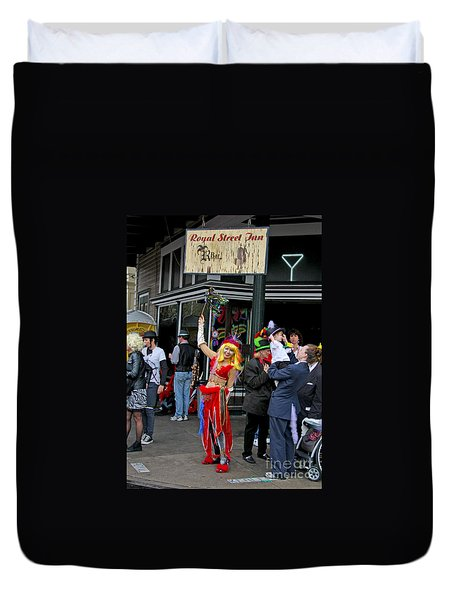 French Quarter Mardi Gras Duvet Cover