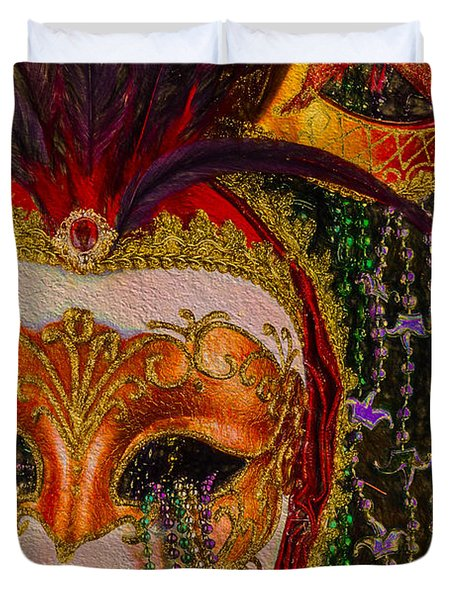 Mardi Gras One Duvet Cover by Ken Frischkorn
