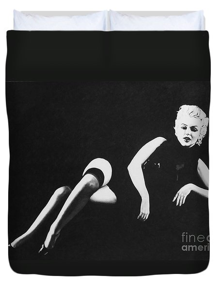 Marilyn Reclining Duvet Cover by Joseph Sonday