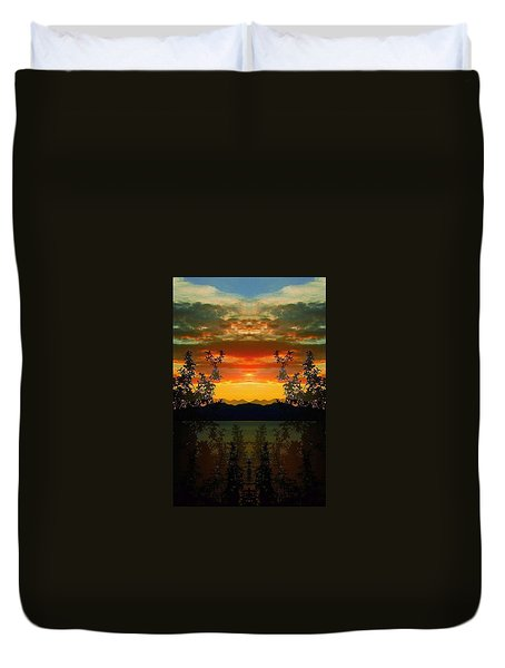 Duvet Cover featuring the photograph Marsh Lake - Yukon by Juergen Weiss