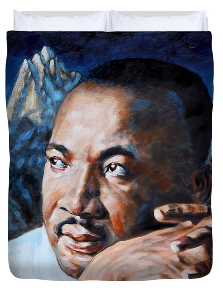 Martin Luther King Duvet Cover by John Lautermilch