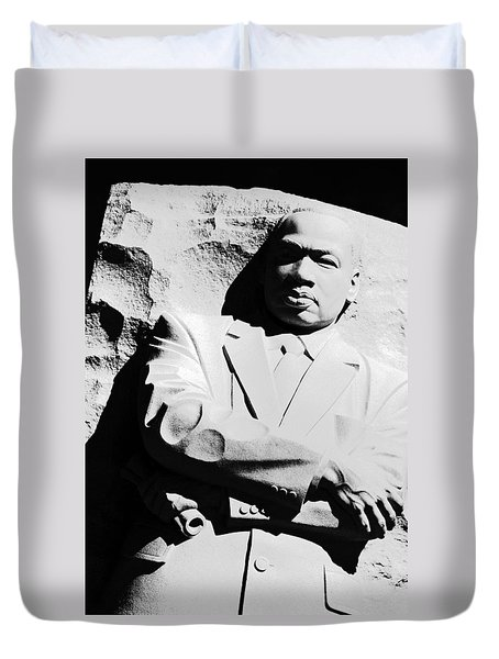 Duvet Cover featuring the photograph Martin Luther King Memorial by Cora Wandel