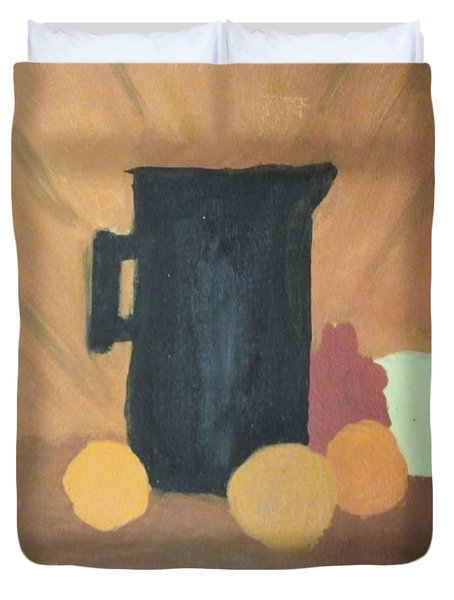 Duvet Cover featuring the painting #1 by Mary Ellen Anderson