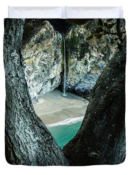 Mcway Falls-big Sur Duvet Cover