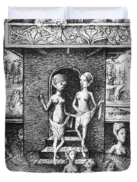 Medieval Bathhouse Duvet Cover
