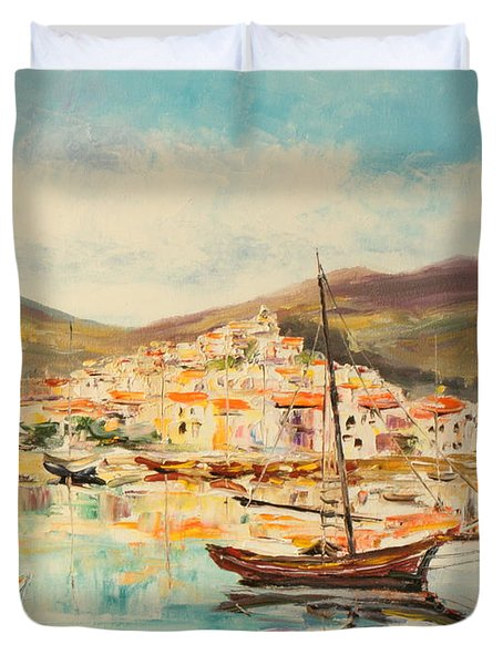 Mentone Harbour Duvet Cover