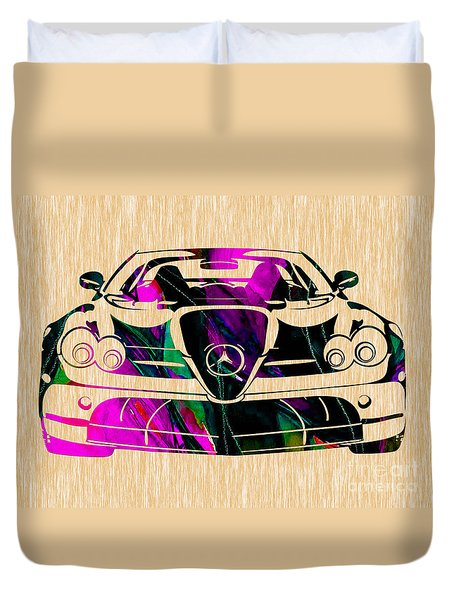 Mercedes Benz Painting Duvet Cover