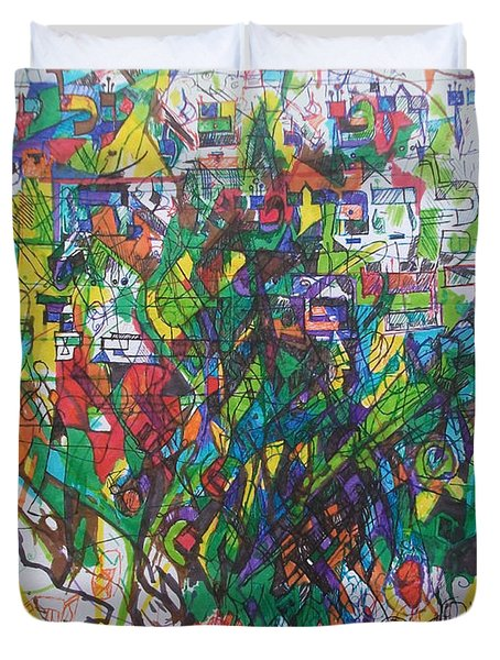 Meriting The Multitudes Duvet Cover by David Baruch Wolk
