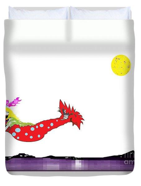 Mermaid 2 Duvet Cover by Ann Calvo